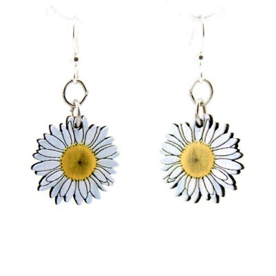 Daisy Blossom Wooden Earrings