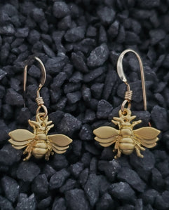 Gold Bee Earring