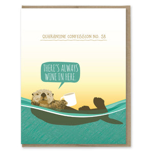 Quarantine Otter Confession Card