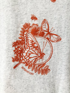 Women's Butterfly Design Crew Neck Tee