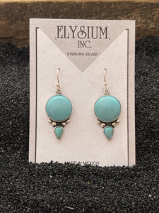 Round Turquoise with Drop Earring