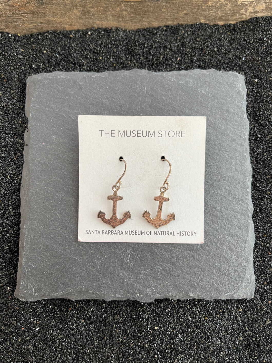 Sterling Silver Hammered Anchor Earring