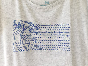 SBMNH Wave Sketch Ladies Tee