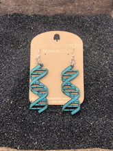 Load image into Gallery viewer, Double Helix Wooden Earrings