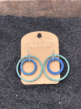 Load image into Gallery viewer, Two Circle Wooden Earrings