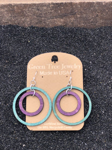 Two Circle Wooden Earrings