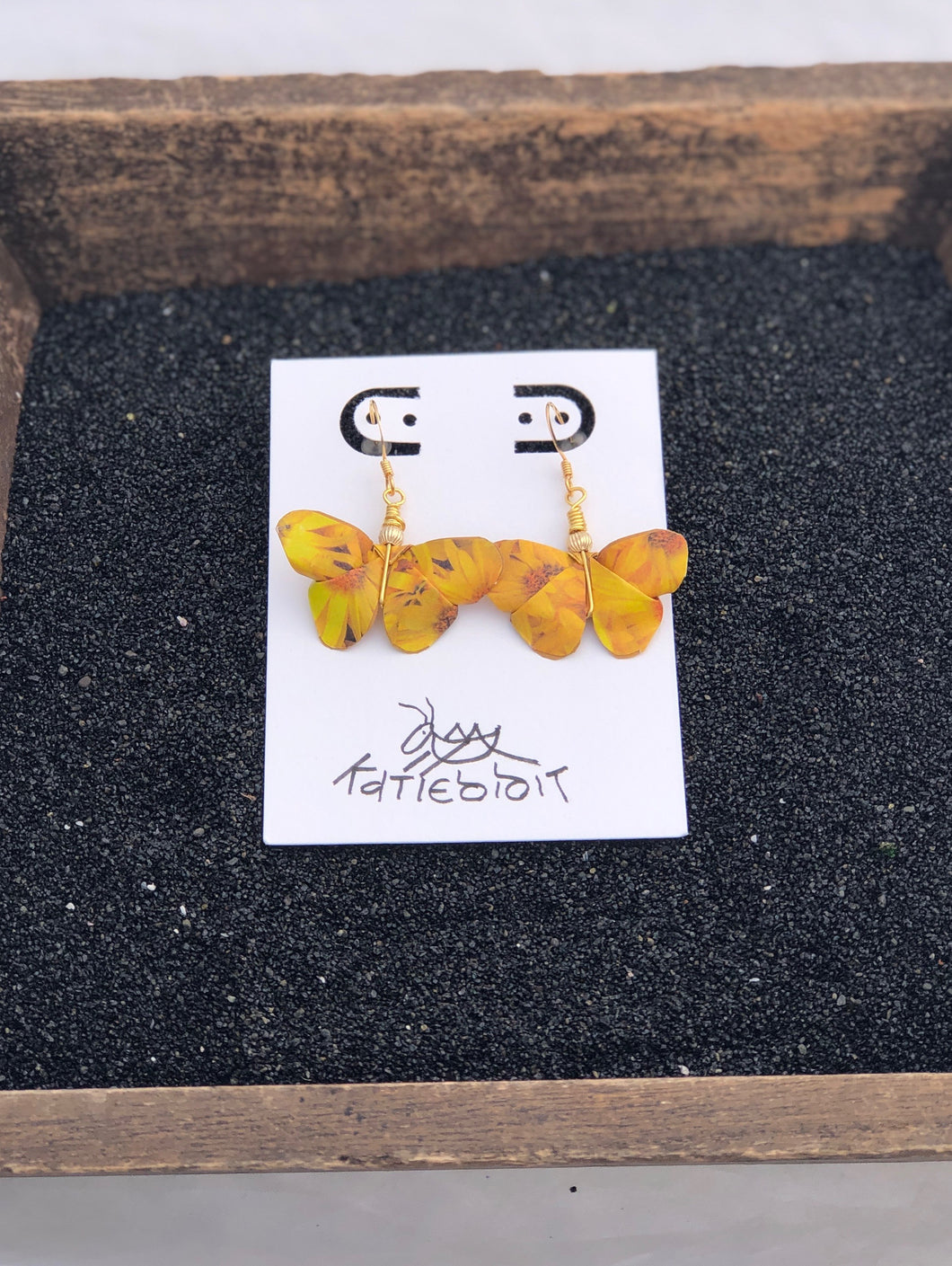 Butterfly Origami Earring-Yellow Series