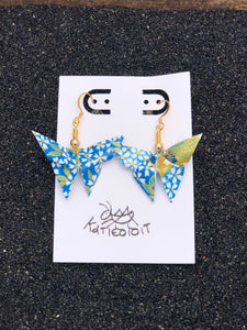 Butterfly Origami Earring- Blue Series