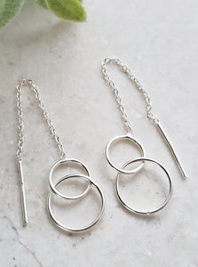 Dual Circle Bar Earring