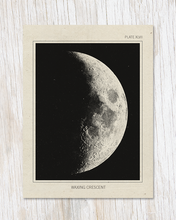 Load image into Gallery viewer, Waxing Crescent Moon Card