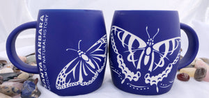 Etched Butterfly Mug