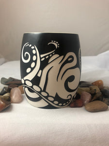 Etched Octopus Mug