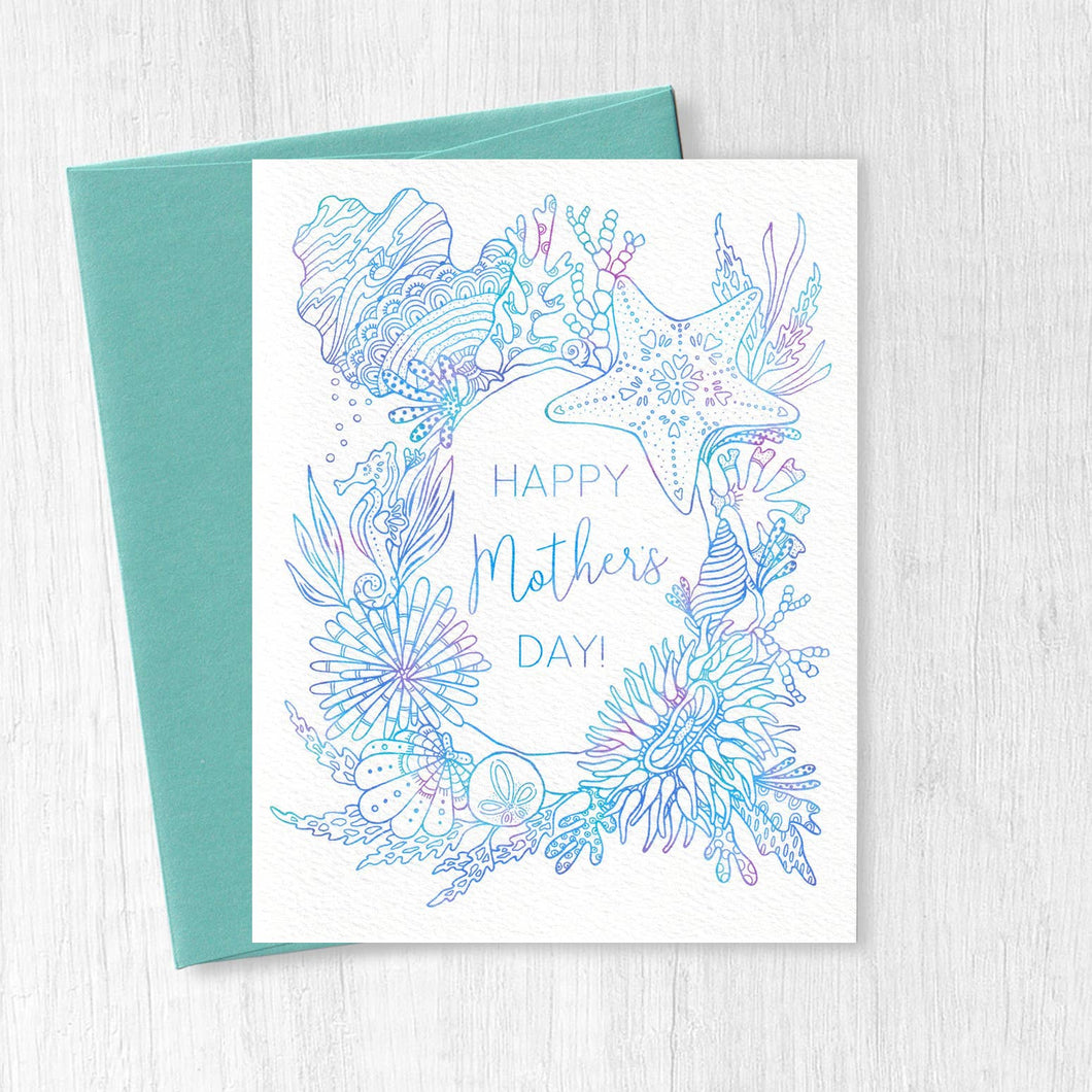Happy Mother's Day Ombre Tidepool Card
