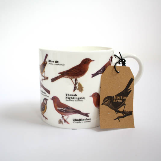 Garden Bird Bone China Mug