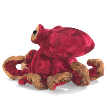 Load image into Gallery viewer, Mini Red Octopus Finger Puppet