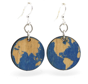 Earth Wooden Earrings