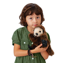 Load image into Gallery viewer, Baby Sea Otter Hand Puppet