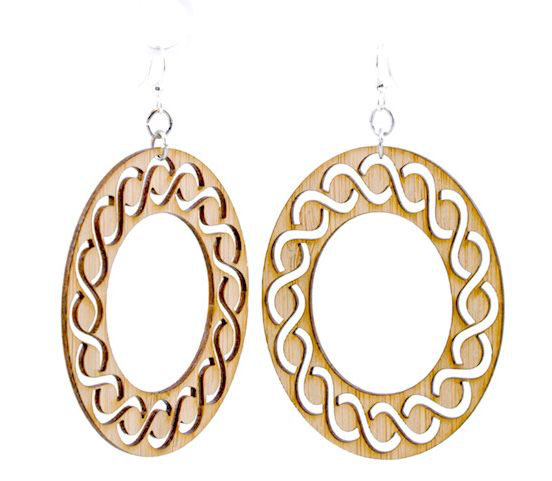 Intertwined Oval Bamboo Earrings