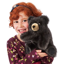 Load image into Gallery viewer, Baby Black Bear Hand Puppet