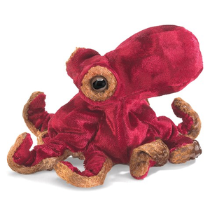 Mini Red Octopus Finger Puppet