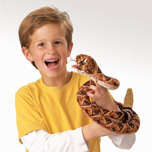Load image into Gallery viewer, Rattlesnake Hand Puppet