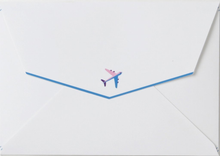 Load image into Gallery viewer, Good Vibes Paper Airplane Card