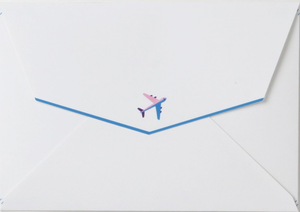 Good Vibes Paper Airplane Card