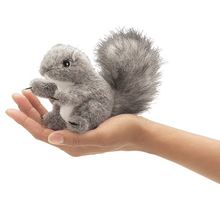Load image into Gallery viewer, Mini Gray Squirrel Finger Puppet