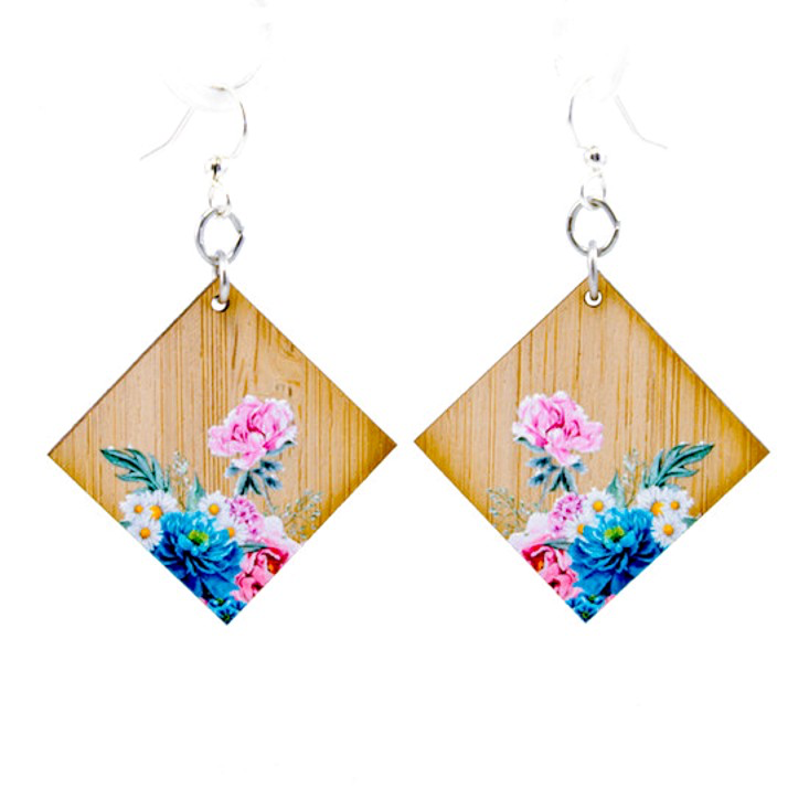 Floral Artistry Bamboo Earrings