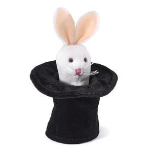 Mini Rabbit in a Hat Finger Puppet