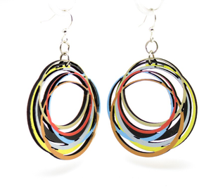 Circle Array Wooden Earrings