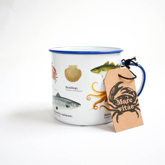 Sealife Enamel Mug