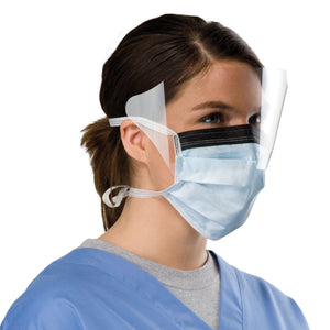 Surgical Tie-on Face Mask with Shield 50/box