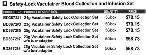 BD Vacutainer Blood Collection/Infusion Set