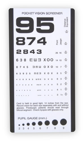 Pocket Eye Chart