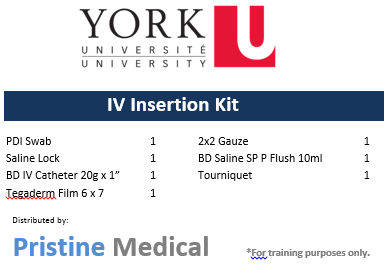 IV Insertion Kit - York University