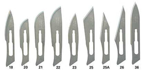 Scalpel Blades, Sterile Carbon Steel, size 24