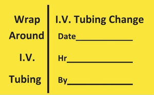 IV Tubing Changed Label