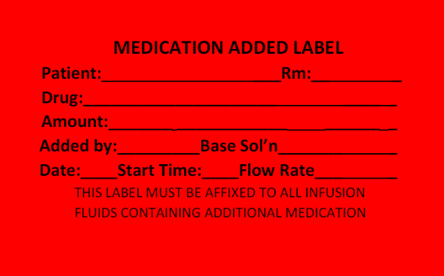 Medication Added Label