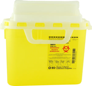 BD Yellow Sharps Container 5.1qt