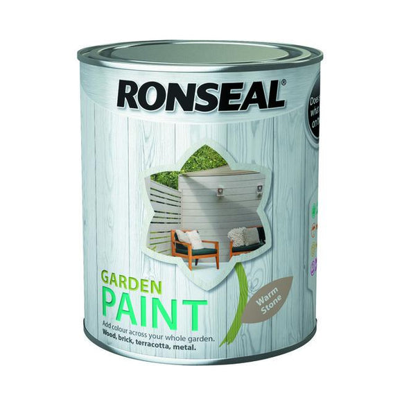 Ronseal Garden Paint 750ml Warm Stone Fitzgeralds_Homevalue_Euronics_Hardware_Dingle_Kerry