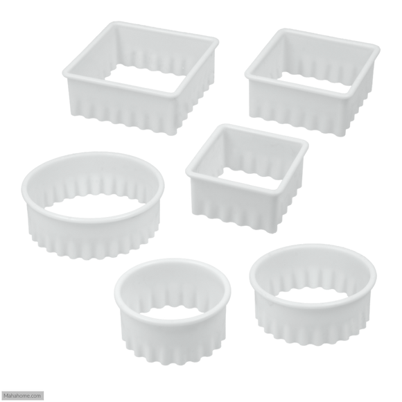 Metaltex Biscuit Pastry Cutters Set of 6