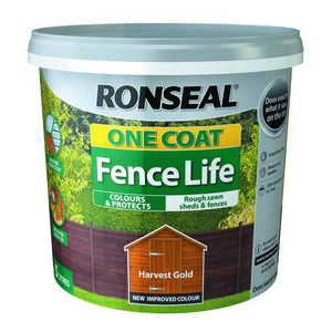 One Coat Fence Life 5L Harvest Gold | 38292 Fitzgeralds_Homevalue_Euronics_Hardware_Dingle_Kerry