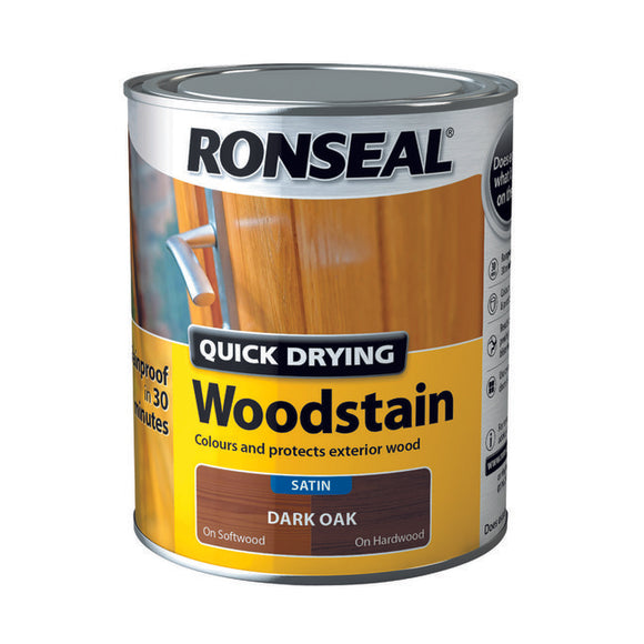 Ronseal Quick Drying Woodstain Dark Oak