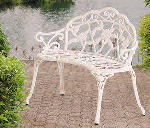 Victorian Style White Bench