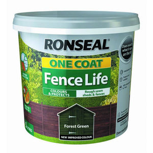 One Coat Fence Life 5L Forest Green | 38291 Fitzgeralds_Homevalue_Euronics_Hardware_Dingle_Kerry
