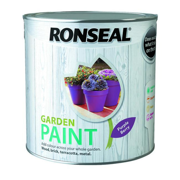 Ronseal Garden Paint 2.5L Purple Berry Fitzgeralds_Homevalue_Euronics_Hardware_Dingle_Kerry