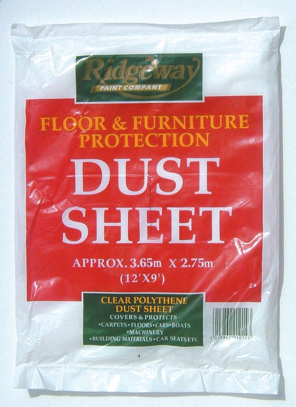 Fleetwood Plastic Tro-away Dust Sheet | AA2849DS