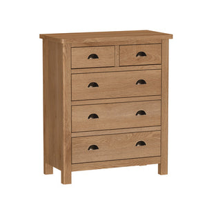 Liffey 2 Over 3 Drawer Chest | RAO2O3