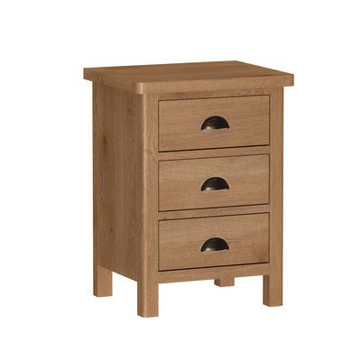 Liffey 3 Drawer Bedside Chest | RAOLBSC